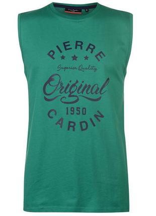 Pierre cardin - франция. футболка - майка. размеры  s, m, l, xl. 100% оригинал