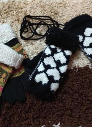 Женские перчатки варежки