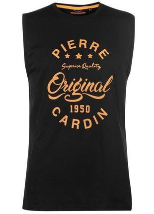 Pierre cardin - франция. футболка - майка. размеры  m, l. 100% оригинал