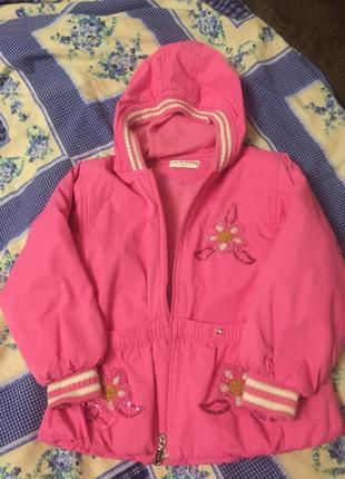 Куртка деми розовая