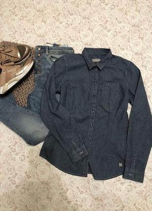 Очент красивая рубашка к джинсам