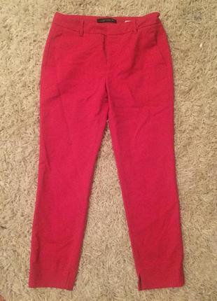 Красные короткие брюки zara