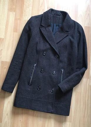 Доступно - стильное пальто *topshop* 10 р. - 51% шерсть!!