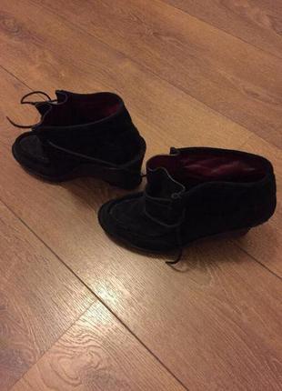 Замшевые ботинки marc by marc jacobs