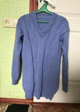 Вязанный свитер ручная работа