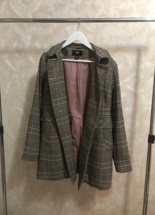Пальто в клетку h&m