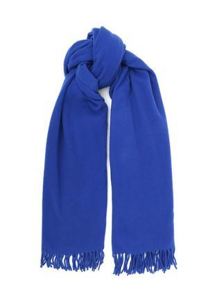 Тёплый шарф электрик кашемир, шерсть
