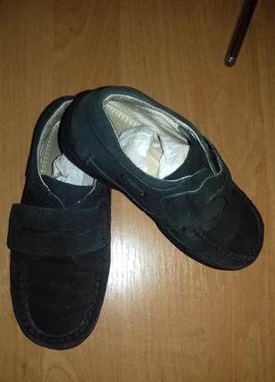 Черные замшевые туфли, мокасины b&g,р.32