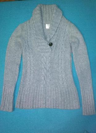 Шерстяной стильный свитер