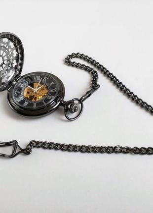 Часы карманные, механика, скелетон. из англии.