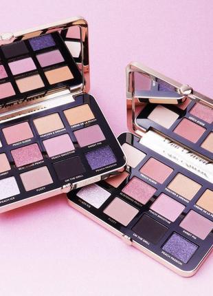 Палетка теней white peach eye shadow palette, известного бренда too faced