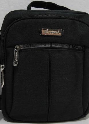Мужская тканевая сумка garangd (чёрная) 18-09-150