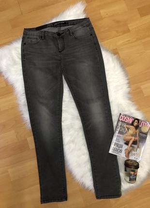 Брюки джинсы штаны брендовые темно серые базовые