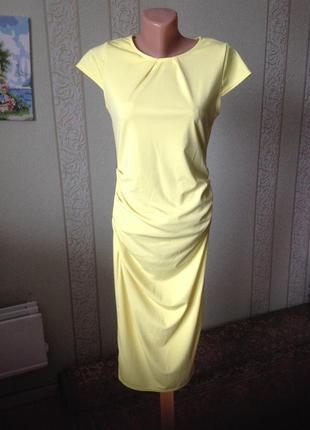Платье красивого лимооного цвета