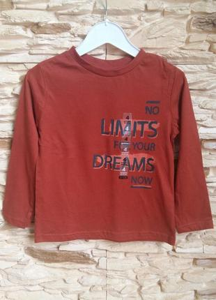 Реглан/лонгслив/футболка kiabi (франция) на 4 годика (размер 98-107)