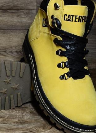 40 41 42 43 44 45 шикарные ботинки сапоги зимние с мехом caterpillar yellow black