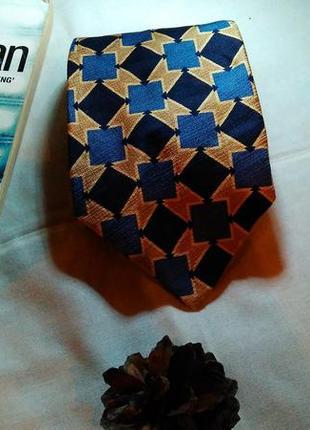 Шелковый галстук в ромбик
