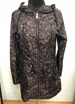 Ветровка дождевик тигровая черная модная стильная базовая