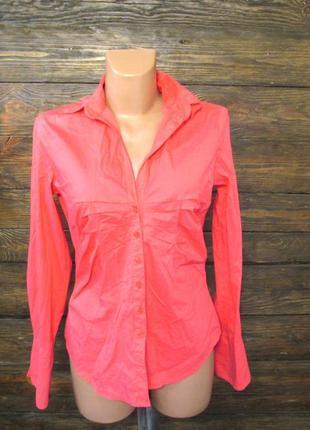 Блузка розово-оранжевая comma, 38, (сл ремонта на плече), уценка!
