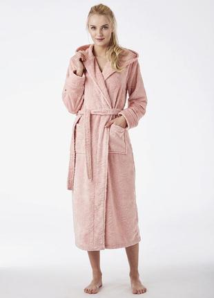 Lgl 148 key длинный теплый розовый халат