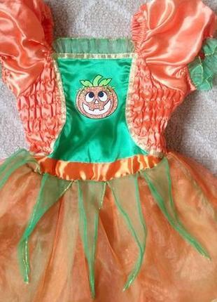 Карнавальное платье новогоднее хеллоуин tu на 1-2 года1 фото