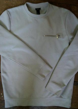 Стильная мужская кофточка с замочком на груди