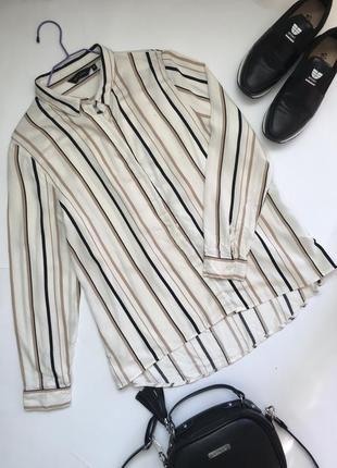 Стильна рубашка в полоску
