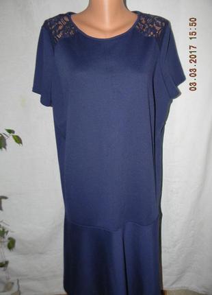 Красивое осеннее новое платье с кружевом большого размера m&co