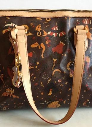 Женская кожаная сумка от известного итальянского бренда piero guidi
