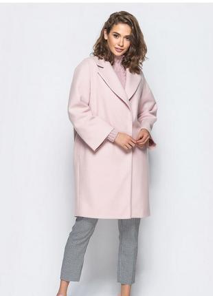 Пальто пудровое