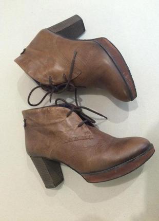 Удобные демисезонные фирменные ботинки стелька 26.5 см