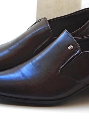 Классика. мужские туфли clowse brown, р.39-44