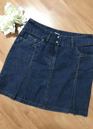Джинсовая юбка мини etam размер м
