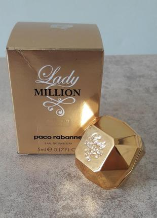 Paco rabbane lady million absolutely gold оригинал