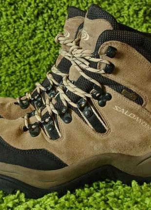 Черевики шкіряні/ ботинки замшевые на мембране salomon