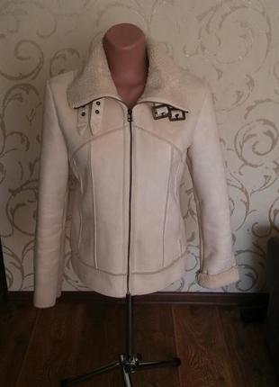 Куртка дубленка с мехом трендовая дубленка куртка на меху