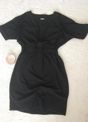 Чёрное платье бойфренд h&m