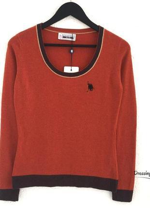 Кашемировый  свитер терракотового цвета u.s. polo (италия)