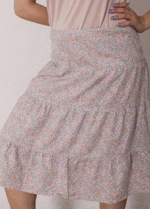 Этно юбка в цветочный принт