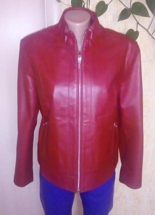 Крутая кожаная куртка из 100 % кожи /жакет/ кожаная куртка/пиджак/