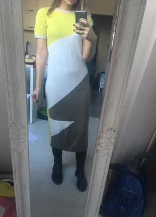 Трикотажное хлопковое платье миди