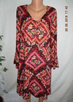 Натуральное платье с принтом tu