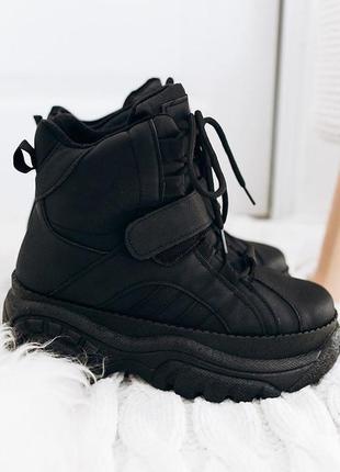Модные ботинки на платформе