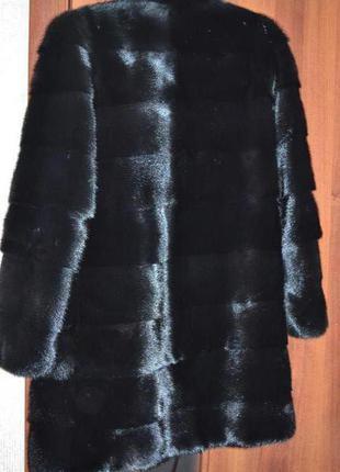 Норковая шуба в идеальном состоянии поперечка черная
