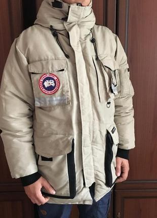 Теплая зимняя куртка пуховик canada goose snow mantra