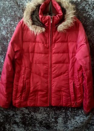 Натуральный пуховик / теплая куртка / пуховик