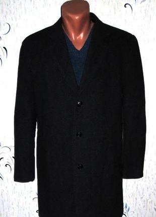 Шерстяное мужское пальто от commander размер: 56-xxl, 3xl