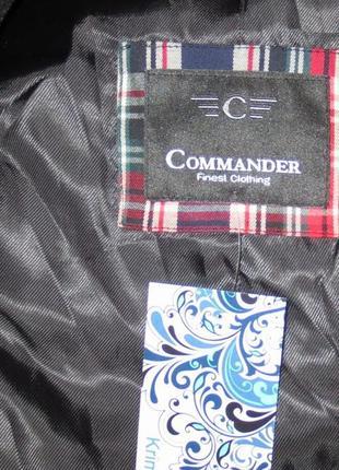 Шерстяное мужское пальто от commander размер: 56-xxl, 3xl3 фото