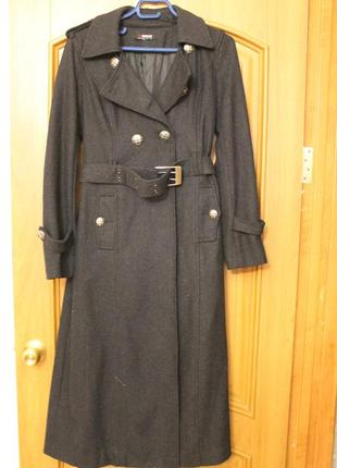 Пальто-миди  в стиле милитари