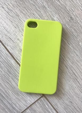 Чехол силиконовый на iphone 4